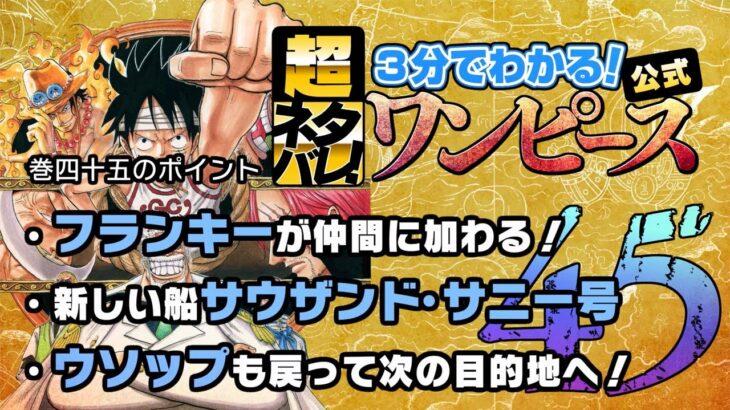 【3分で分かる!】ONE PIECE 45巻 完全ネタバレ超あらすじ!【エースと…黒ひげが…!?】