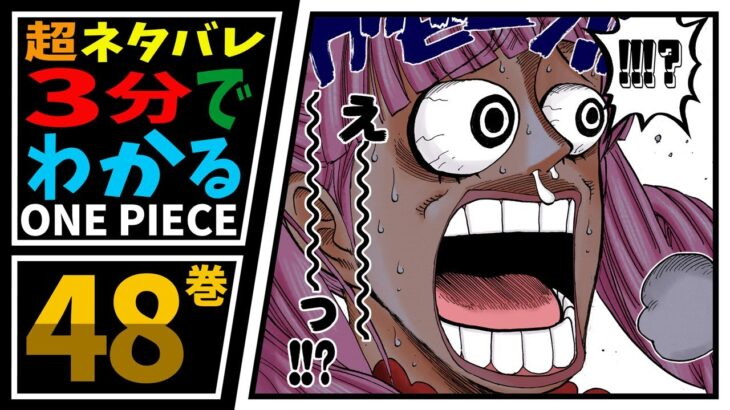 【3分で分かる!】ONE PIECE 48巻 完全ネタバレ超あらすじ!【ゾロ、新たな刀、秋水を手に入れる!】
