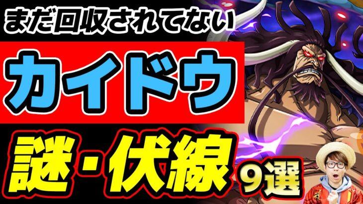【ワンピース】ワノ国編のボス!カイドウのまだ回収されてない謎・伏線9選!ONE PIECE