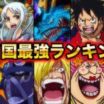 【ワンピース】最新版ワノ国最強キャラクターランキング2021!敵味方ワノ国編勢力強さ比較!【ONE PIECE】