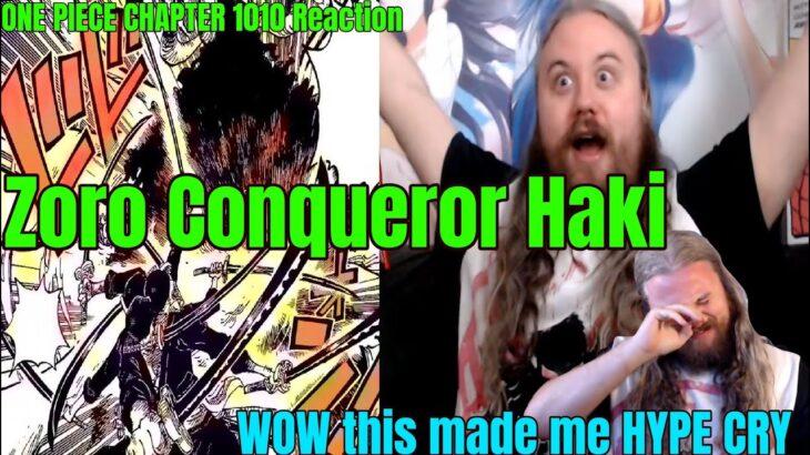 ONE PIECE CHAPTER 1010 Reaction Zoro Conqueror Haki ワンピース