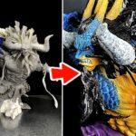 """ワンピース 人獣型カイドウのフィギュアを作ってみた/ONEPIECE Made the """"Hybrid Form Kaido"""" Figure"""