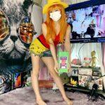 大幅遅刻⚡180📺ワンピース「ナミがルフィーのコスプレ」をして植田あんこ玉を食べる / ONE PIECE, Nami playing Luffy's Cosplay