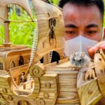 Wood Carving – Miniature Thousand Sunny in One Piece ワンピース