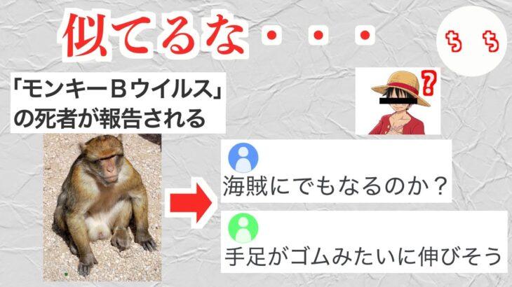 猿のウイルスの名前がワンピースのルフィすぎる【モンキーBウイルス】