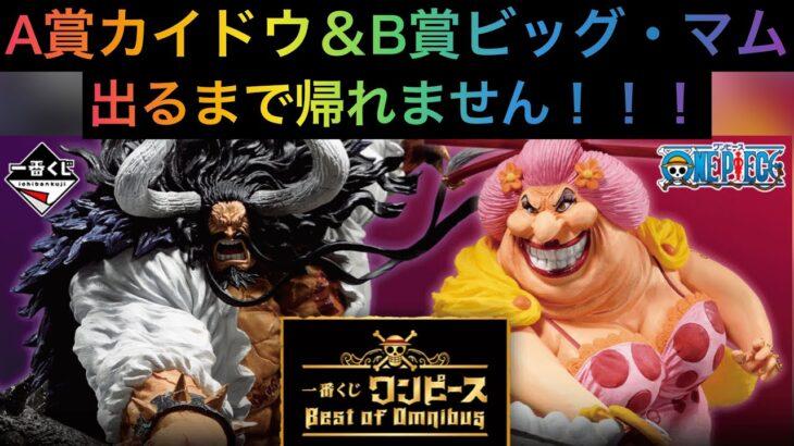 一番くじ ワンピース Best of Omnibus A賞カイドウ&B賞ビッグ・マム 出るまで引いてみた!大散財覚悟!