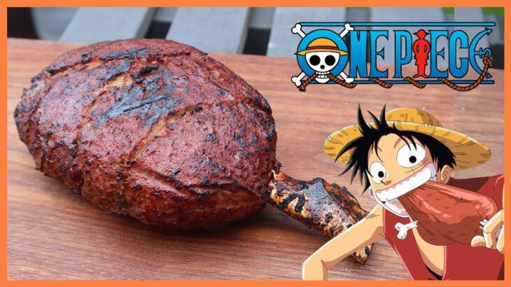 (ENG) 원피스 루피의 고기  | 애니먹방 | ワンピース  ONE PIECE  Luffy's Meat Bone Recipe