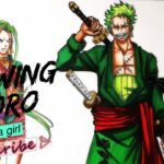 Drawing Zoro as a Girl | Gender Swap | One Piece ワンピース