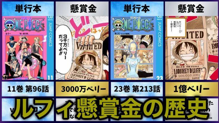 【ワンピース】最新版!ルフィの懸賞金の推移!歴史をまとめてみた!【ONE PIECE】