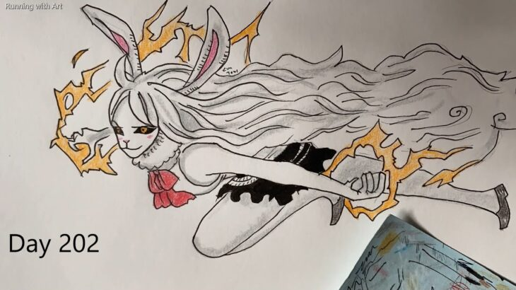 Drawing a One Piece character everyday until Luffy defeats Kaido Day 202 |ワンピース|
