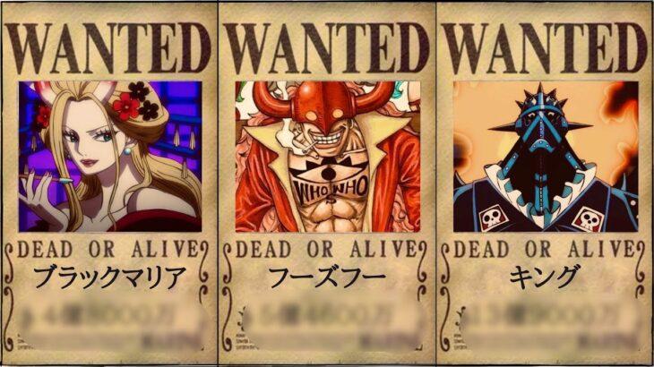 【ワンピース】最新速報!百獣海賊団懸賞金ランキング【ビブルカード】【ONE PIECE】